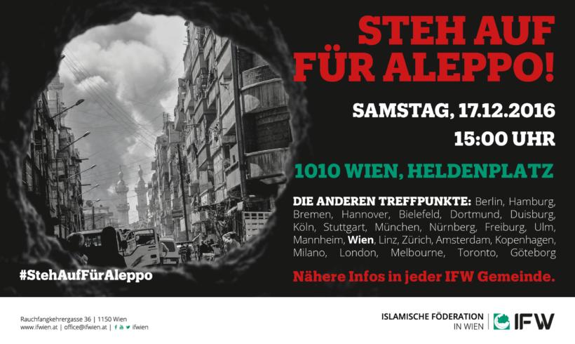 Solidarität mit Zivilbevölkerung in Aleppo