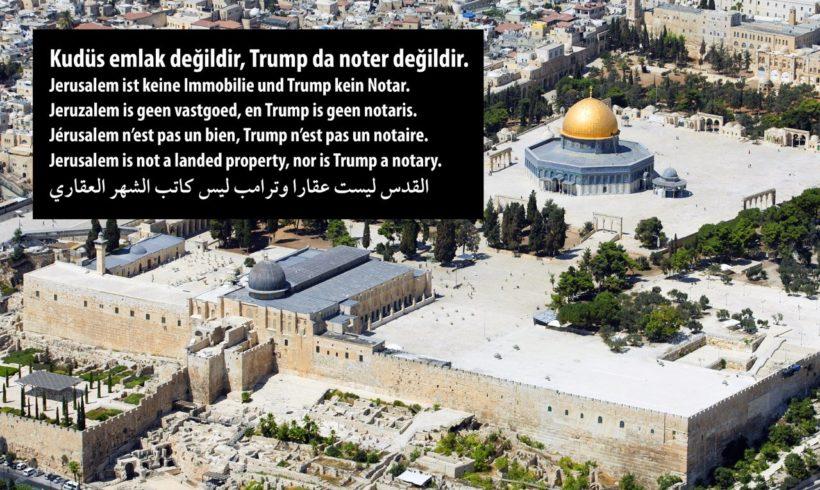 Kudüs'te Barışa ve İnsan Onuruna Sahip Çıkış Bildirisi